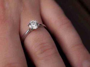 Wedding engagement-ring-on-finger