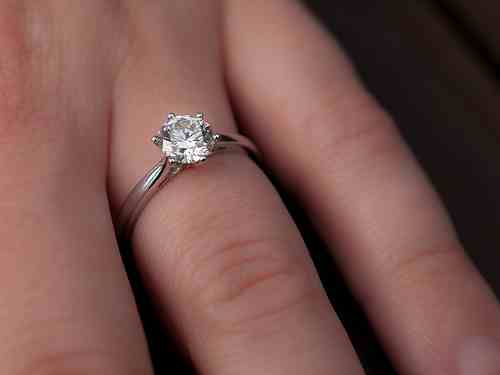 Wedding engagement-ring-on-finger